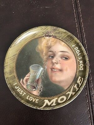 "Vintage Moxie Tip Tray - ""I Just Love Moxie, Don't You"" Rare Antique"