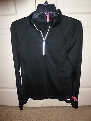 01225fb4e236e NWOT NEW BALANCE NB 1/4 Zip Pullover L/S Womens Large mid weight ...