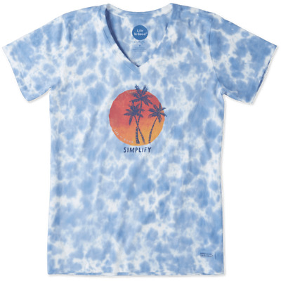 Life is Good Mens Cool tee Simplify Palms
