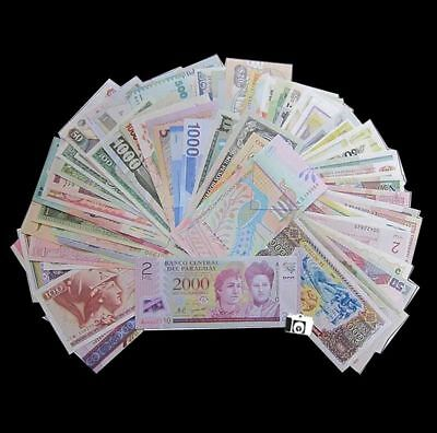 Lot of 100 PCS From 100 Different Countries Paper Money UNC