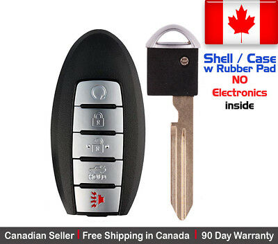 1x New Replacement Keyless Entry Remote Control Key Fob For Nissan Shell / Case