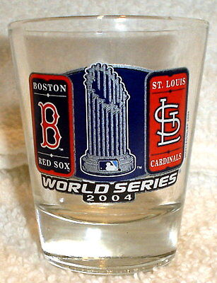 2004 World Series Boston Red Sox Vs St Louis Cardinals Shot Glass New Unused