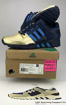 "best sneakers 77560 11781 KithRonnie Fieg x Adidas EQT Support 93 ""NYCs Bravest"" Sz"