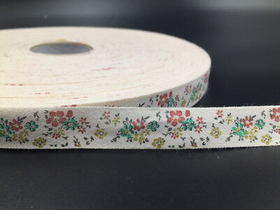 """5Y 5/8"""" Cotton Ribbon Design flower Home Party Decor DIY Sewing Craft 15mm"""