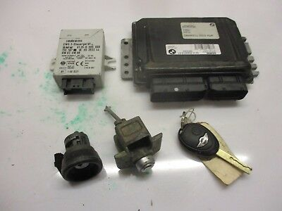Mini R53 Cooper S Petrol Manual 2002 Dme Ecu Ews Lock Barrel + Key 7520019
