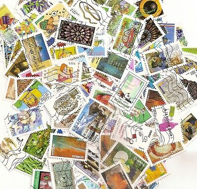 Lot 100 Timbres Autoadhesifs France Obliteres Tous Differents