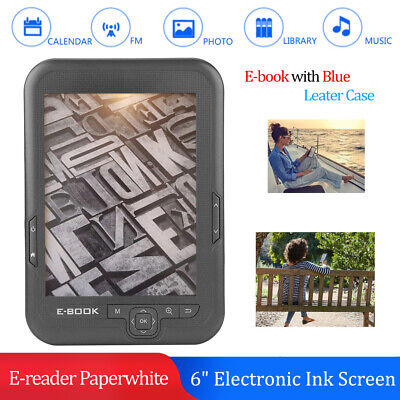 """6"""" E-Ink Touch 4G E-book eBook Reader MP3 Player 8GB+32GB TF FM USB 29 languages"""
