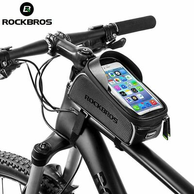 a1c9622f279 Bicycle Bags MTB Road Bike Waterproof Touch Screen Cycling Top Front Tube  Frames