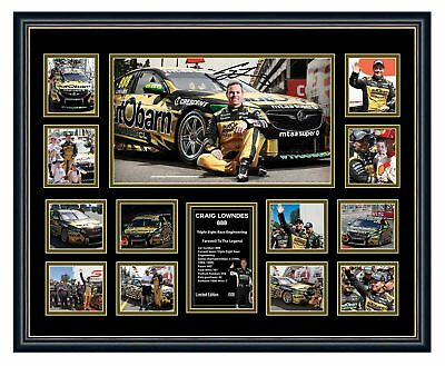 Craig Lowndes 2018 Final Race Farewell To A Legend Signed Le Framed Memorabilia