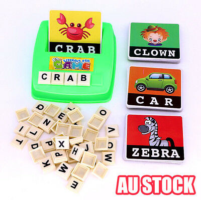 Literacy Scrabbler Early Education Puzzle Toys Gift 2019  UE