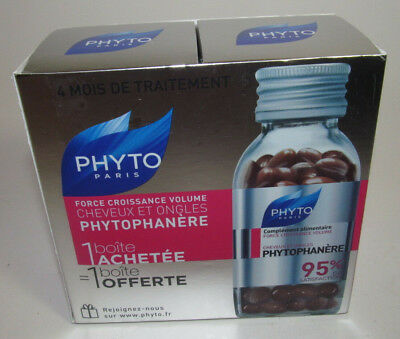 Phyto Phytophanere Hair, Nails Dietary Supplements 2 X 120 Caps (4 Month Supply)