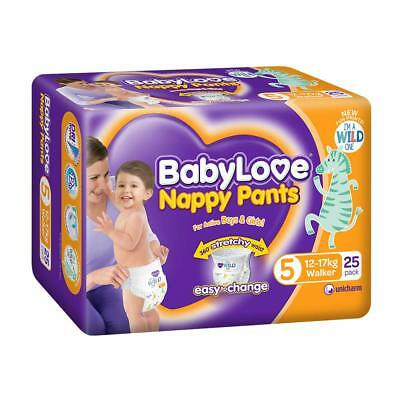 BabyLove Walker Nappy Pants Nappies 12-17kg (25 pack x 3, 75 Total)