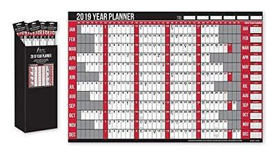 Anker 2019 Year Wall Planner Holiday Planner Including Pen and Stickers Office O