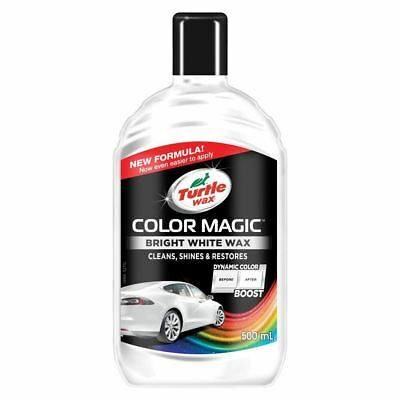 Turtle Wax Color Magic Car Paintwork Polish Restores Scratches Faded 500ml White