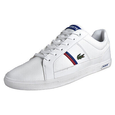 Lacoste Europa TCL Mens Classic Casual Designer Leather Trainers White