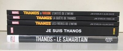 Lot 5 Albums Thanos Marvel Graphic Novels Marvel Deluxe Anthologie Panini