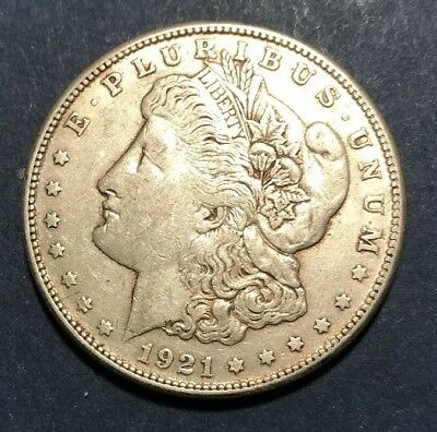 1921-S - Morgan Silver Dollar - Last Year - 90% - US Coin *806