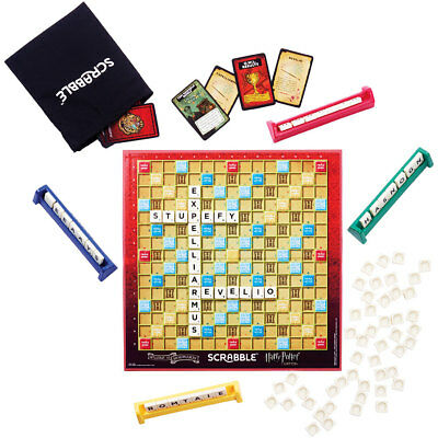 Scrabble Harry Potter Edition Family Board Game With Magical Hogwarts Cards