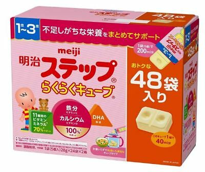 Meiji Step Easy cube 27 g × 48 bags Milk powder 1 to 3 years old With premium