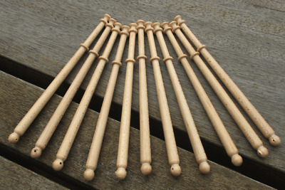Midland lace bobbins - ten new Maple bobbins
