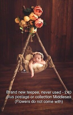 Photography Prop Wooden Teepee