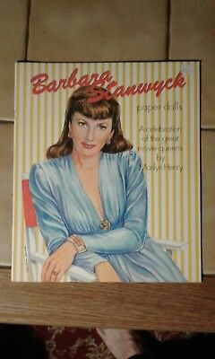 Barbara Stanwyck paper doll dolls booklet 1995 UNCUT  by Marilyn Henry