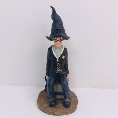 Harry Potter 19 Cm Resin Statue Figure Sitting On Stool With Sorting Hat