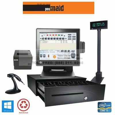 Retail Store POS Complete System w/Retail Maid POS Software - 4GB 2.8G CPU SSD