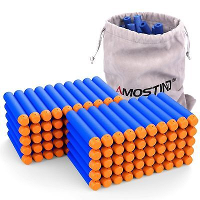 AMOSTING Refill Darts 100PCS Bullets Ammo Pack for Nerf N-Strike Elite Series...