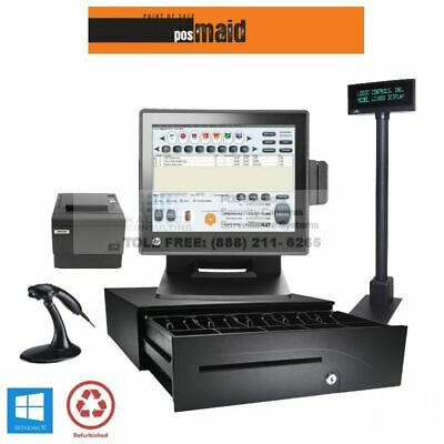 Convenience Store POS Complete System w/Retail Maid Software - 4GB 2.8 CPU SSD