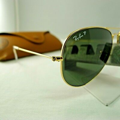 6f3058c899 Ray-Ban Rb3025 001 58 Gold G-15 Green Polarized Aviator Sunglasses 58Mm
