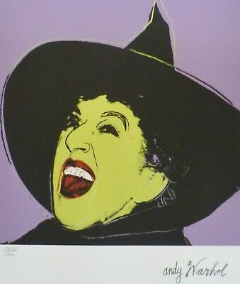 Andy Warhol Witch Signed & Hand Numbered 3651/5000 Limited Edition Lithograph