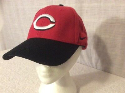 ... shop nike cincinnati reds mlb team swoosh adjustable cap hat baseball.  red. black. 4a602ca2d4f6