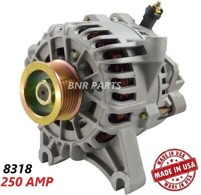 250 AMP 8318 Alternator Ford Lincoln High Output Performance HD NEW USA