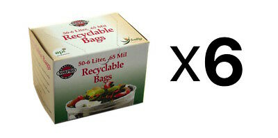 Norpro 50 Count Recyclable Bags / Compost Bags - 6 Liter, 0.65 Mil (6-Pack)