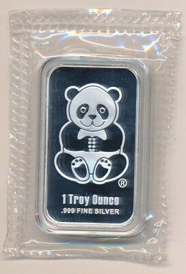 Sunshine Minting Inc. Panda One Ounce Silver Bar .999 Fine-Sealed!! Ships Free!