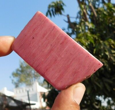 140 Cts Natural Pink Calcite 59X32X6Mm Slice Loose Cabochon Gemstone