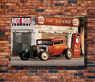 New Rod Cars Silk inch Muscle Car Poster -14x21 24x36 Art Gift X-2435