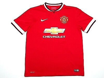 5e930c775 Mens Nike Dri-Fit Red Chevrolet Manchester United Soccer Jersey Size Large
