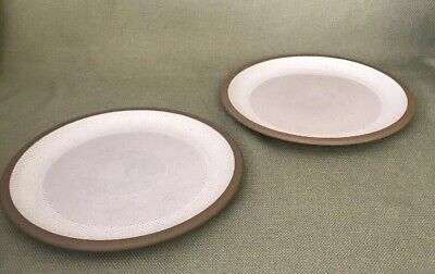 """2 MIDWINTER STONEWARE NATURAL  COLLECTION WEDGWOOD  8 7/8"""" Salad Plates England"""
