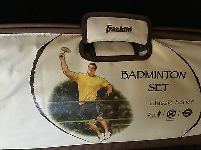 Franklin Sports Classic Series Badminton Set with Canvas Carryall Duffle Bag