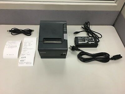 Epson Tm-T88V M244A Idn Thermal Receipt Printer With Ps-180 Power Supply