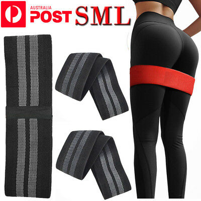 Resistance Booty Bands Set Hip Circle Loop Bands Workout Exercise Guide AU