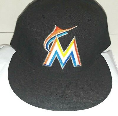 25da8a2060f ... sweden new era miami marlins on field authentic mlb 59fifty fitted hat  cap 7 1 7faf3