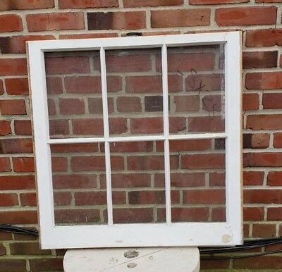 """28""""×28"""", Perfectly Square, 6 Pane Wood Window Rustic Antique Vintage Farmhouse"""
