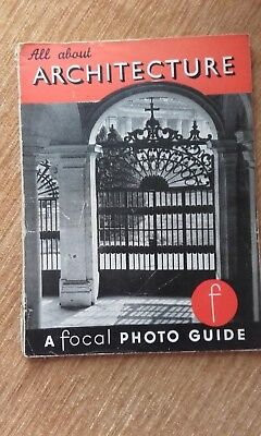 Vintage A Focal Photo Guide - All About Architecture R.M. Fanstone 1954 Book