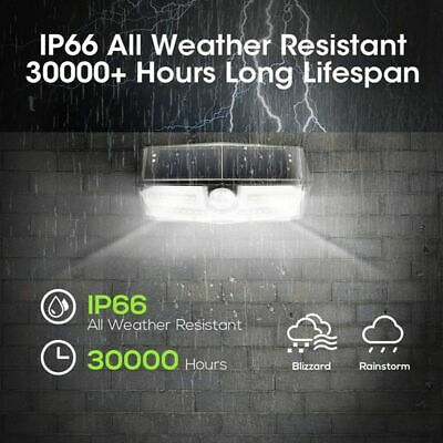 MPOW Waterproof LED Solar Light Motion Sensor Lighting Security Wall Lamp 30 LED