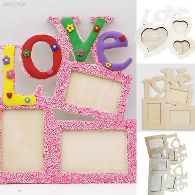 A471 Lovely Sweet Wooden Love Hollow Photo Picture Frame Family Home Decor Art