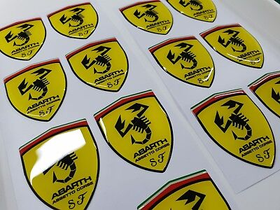Fiat 500 / 595 / 695 Abarth Assetto Corse Badge wing Decals / Stickers 60mm tall