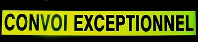 Convoi Exceptionnel Fluorescent vehicle warning sign Magnetic and Self Adhesive